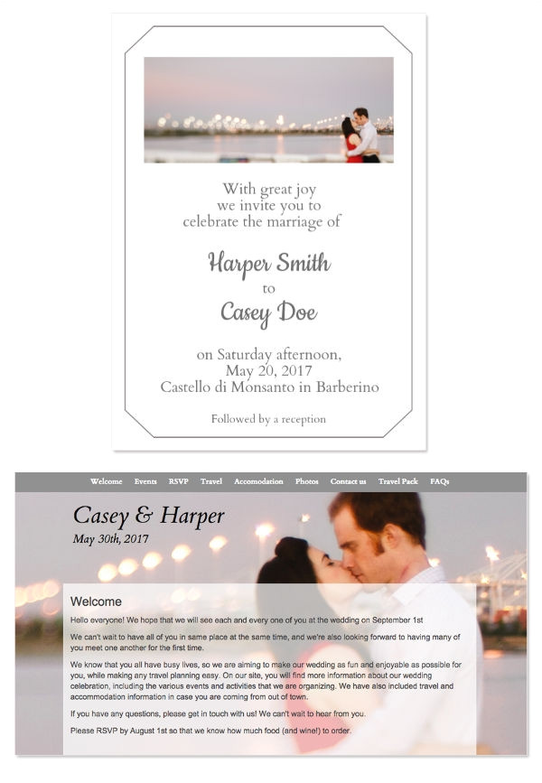 inspiring marriage invitation mail templates ideas