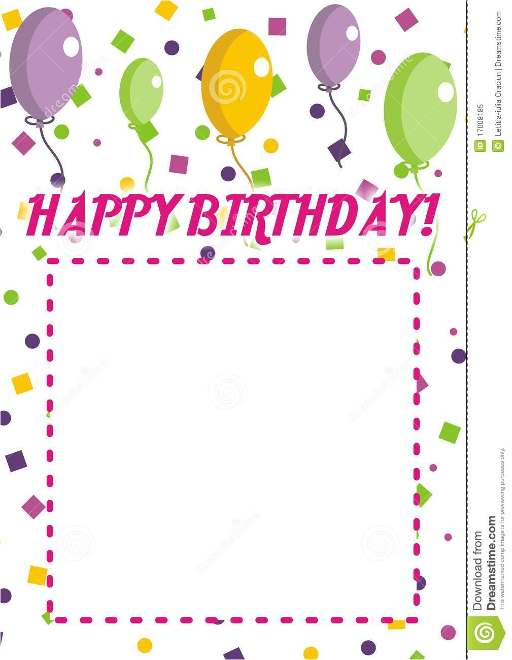 royalty free stock photo happy birthday invitation image17008185