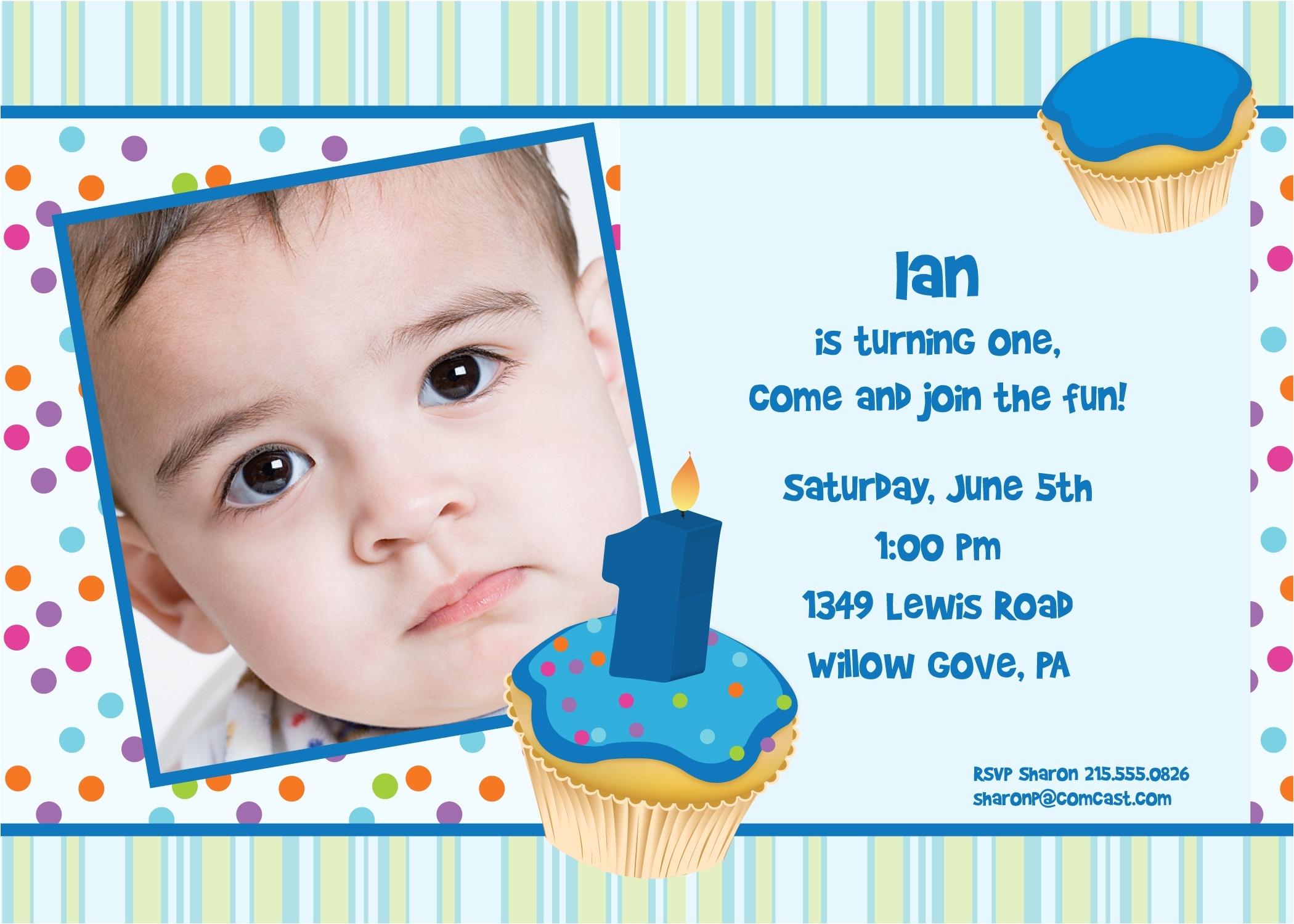1st birthday invitation letter