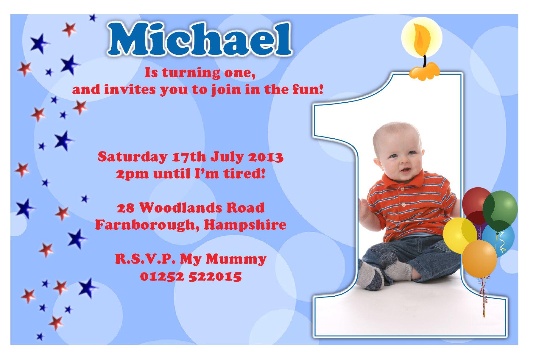 first birthday party invitation ideas