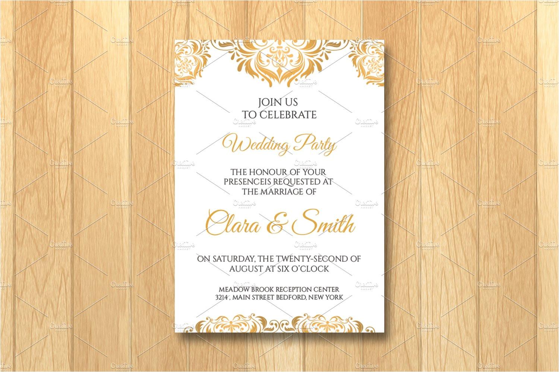 992977 wedding invitation card template