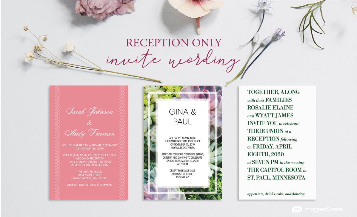 post wedding reception invitation wording