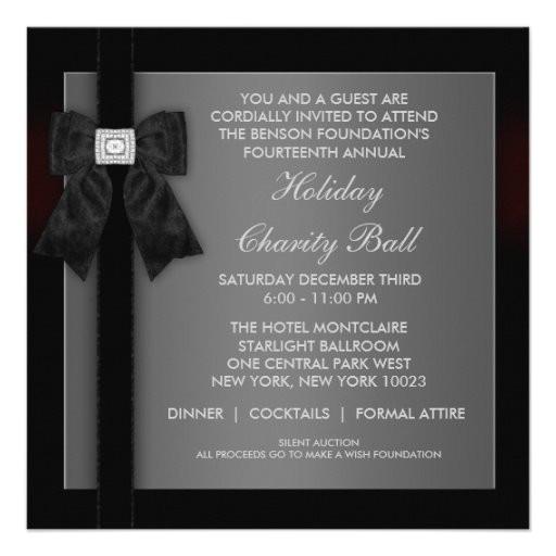 corporate black tie event formal template invitation 161045609336080063