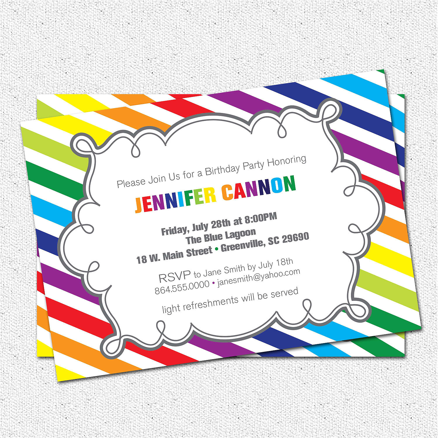 printable birthday party invitation girl