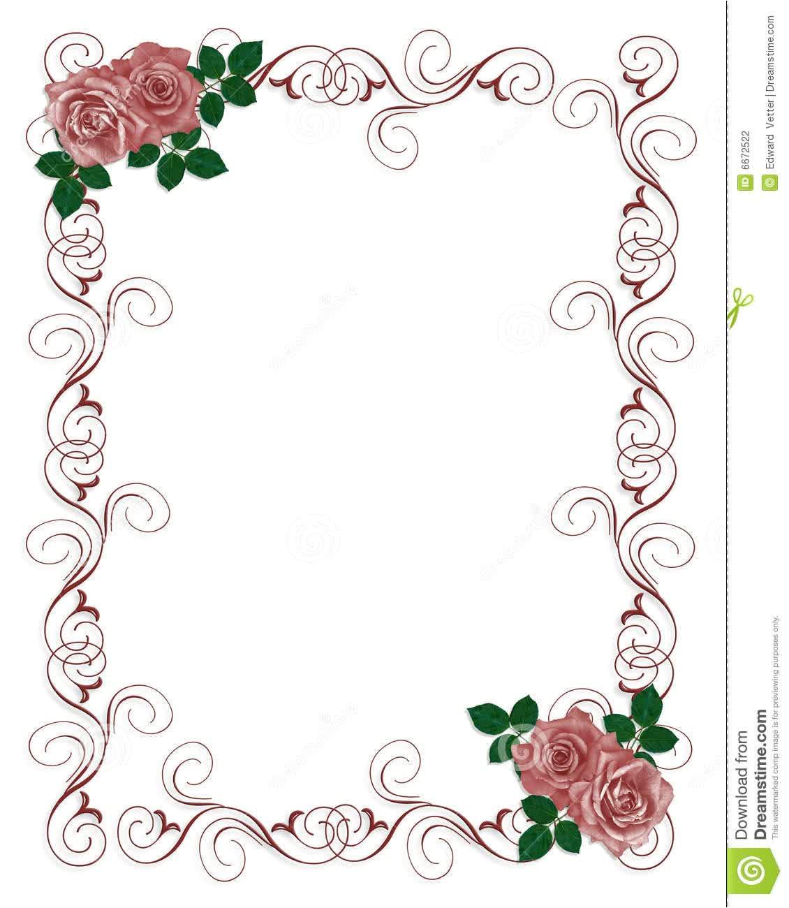 Free Blank Template for Wedding Invitation Floral Blank Wedding Invitation Templates Wedding and Bridal