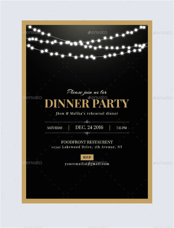 cool free dinner party invitation templates ideas