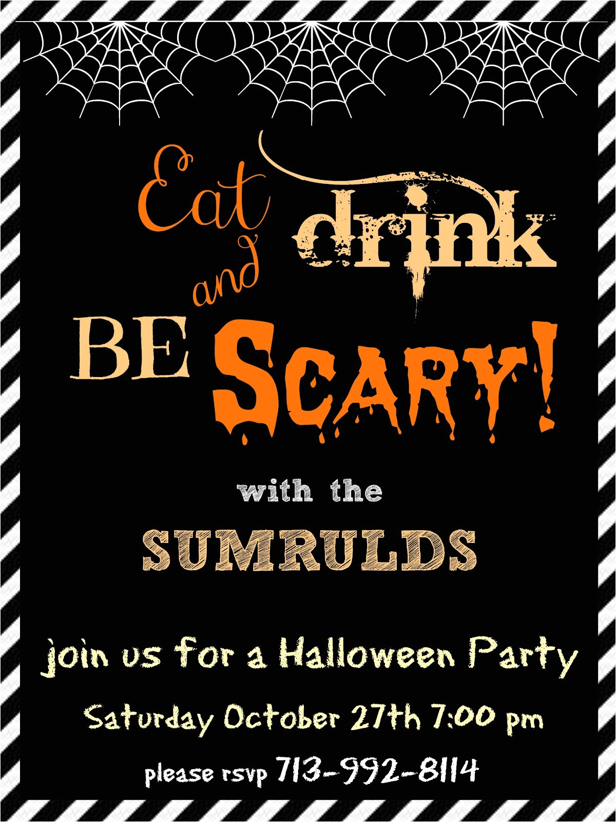 halloween party invitations please help