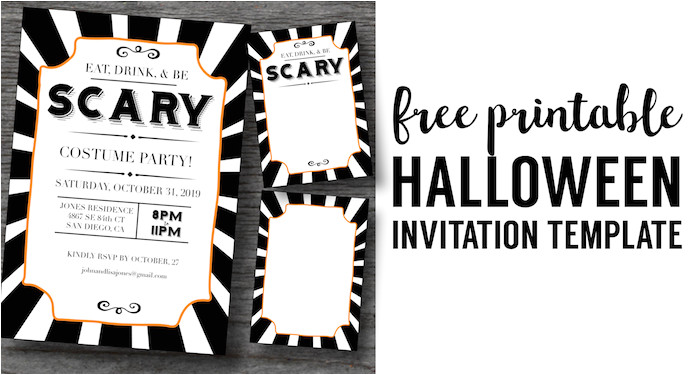 halloween invitations free printable template