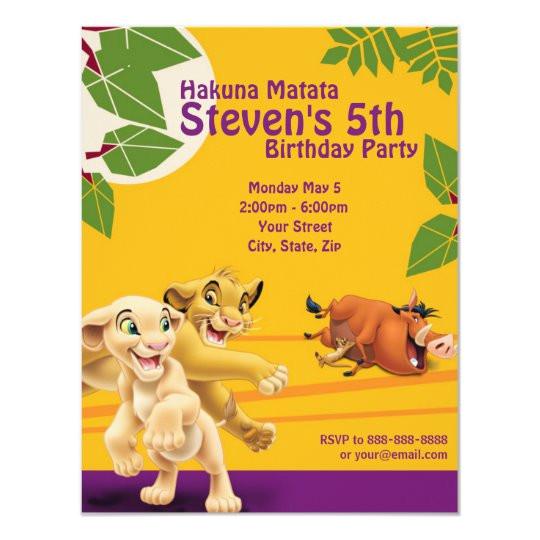 lion king birthday invitation 161542171999895709