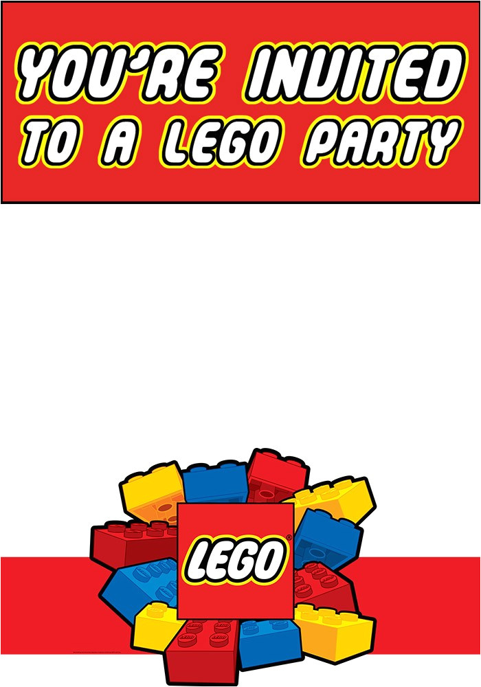 free printable lego invitation templates