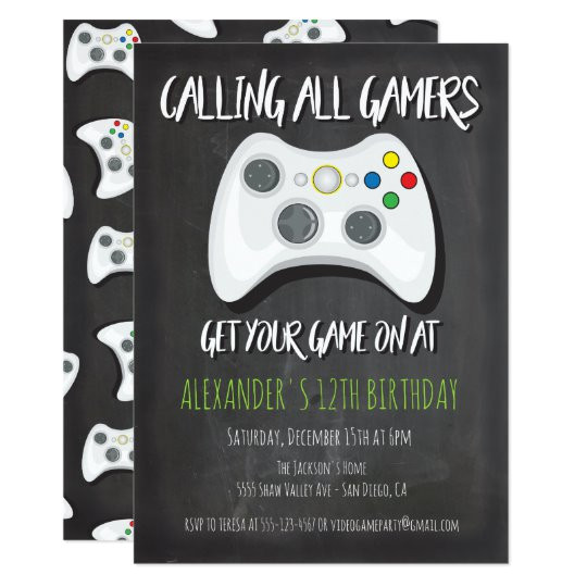 video game birthday party invitations 256141662949067960