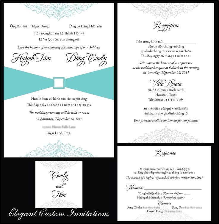 vietnamese wedding invitation templates