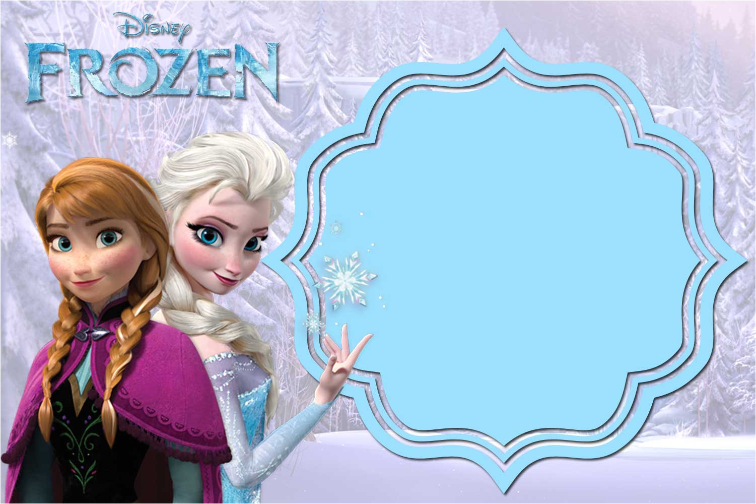 free printable frozen anna and elsa invitation templates