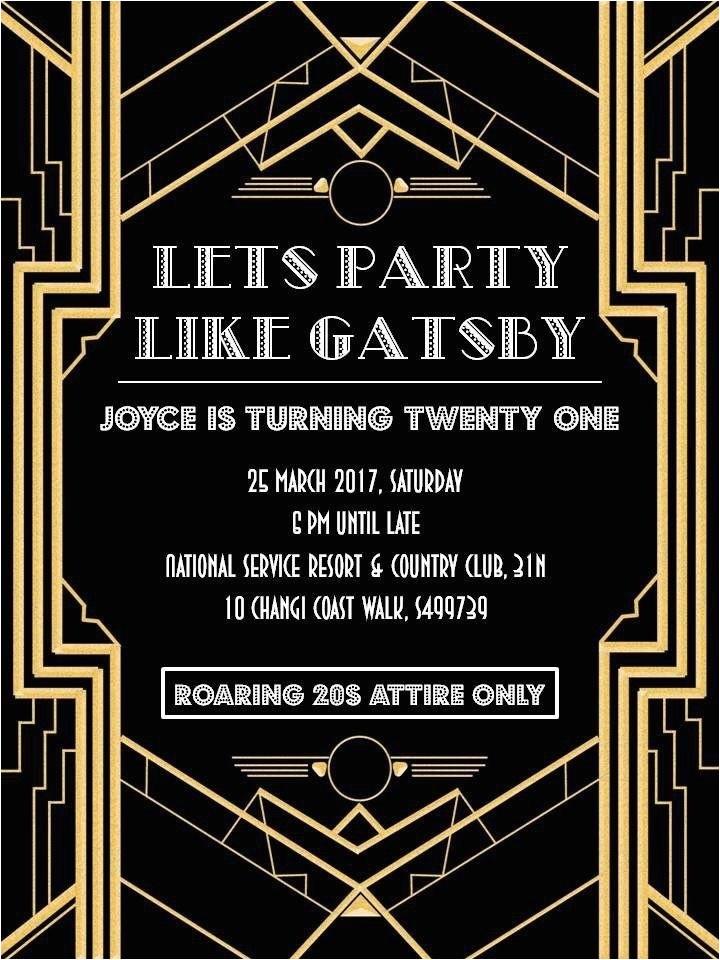 great gatsby invitation template 2018