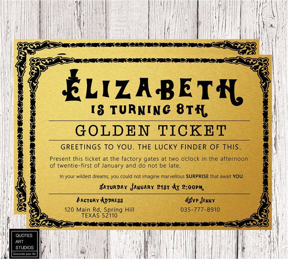willy wonka golden ticket birthday