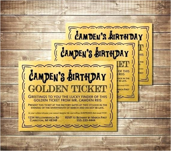 willy wonka ticket template