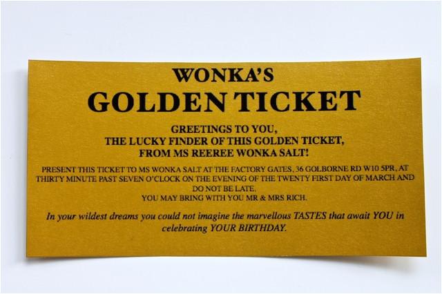 wonka bar golden ticket invitations