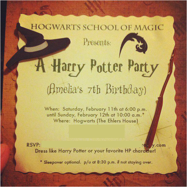 harry potter birthday invitations printable updated
