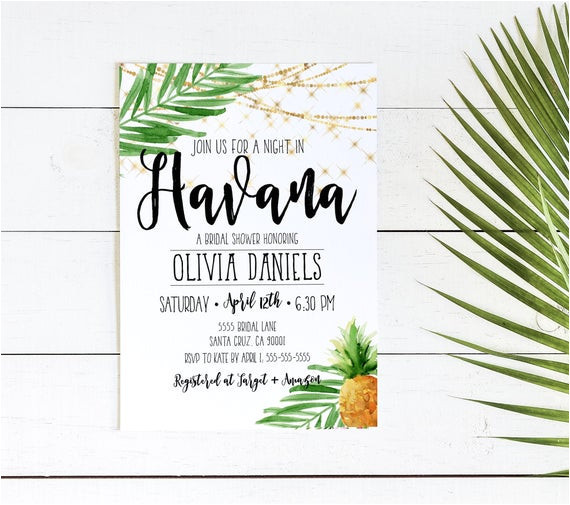 havana nights invitation cuban party