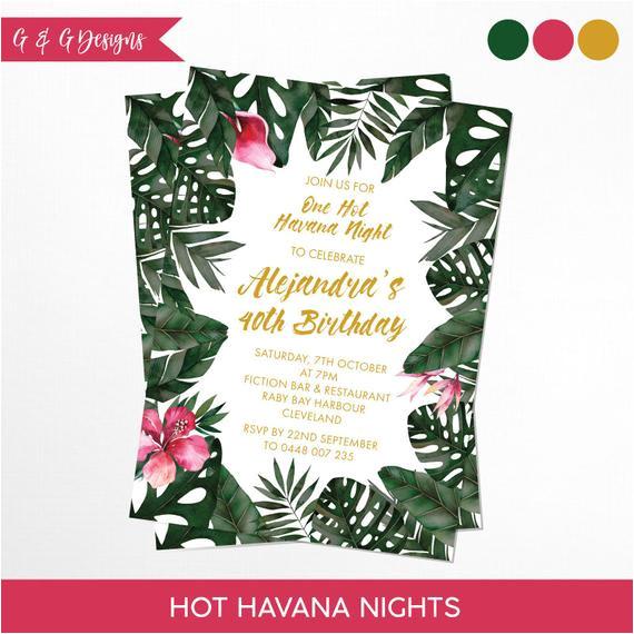 havana nights tropical birthday