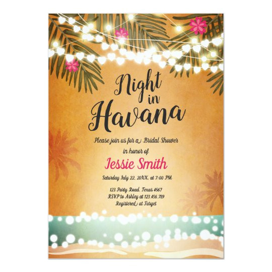 night in havana bridal shower invitation hot night 256437054774891973
