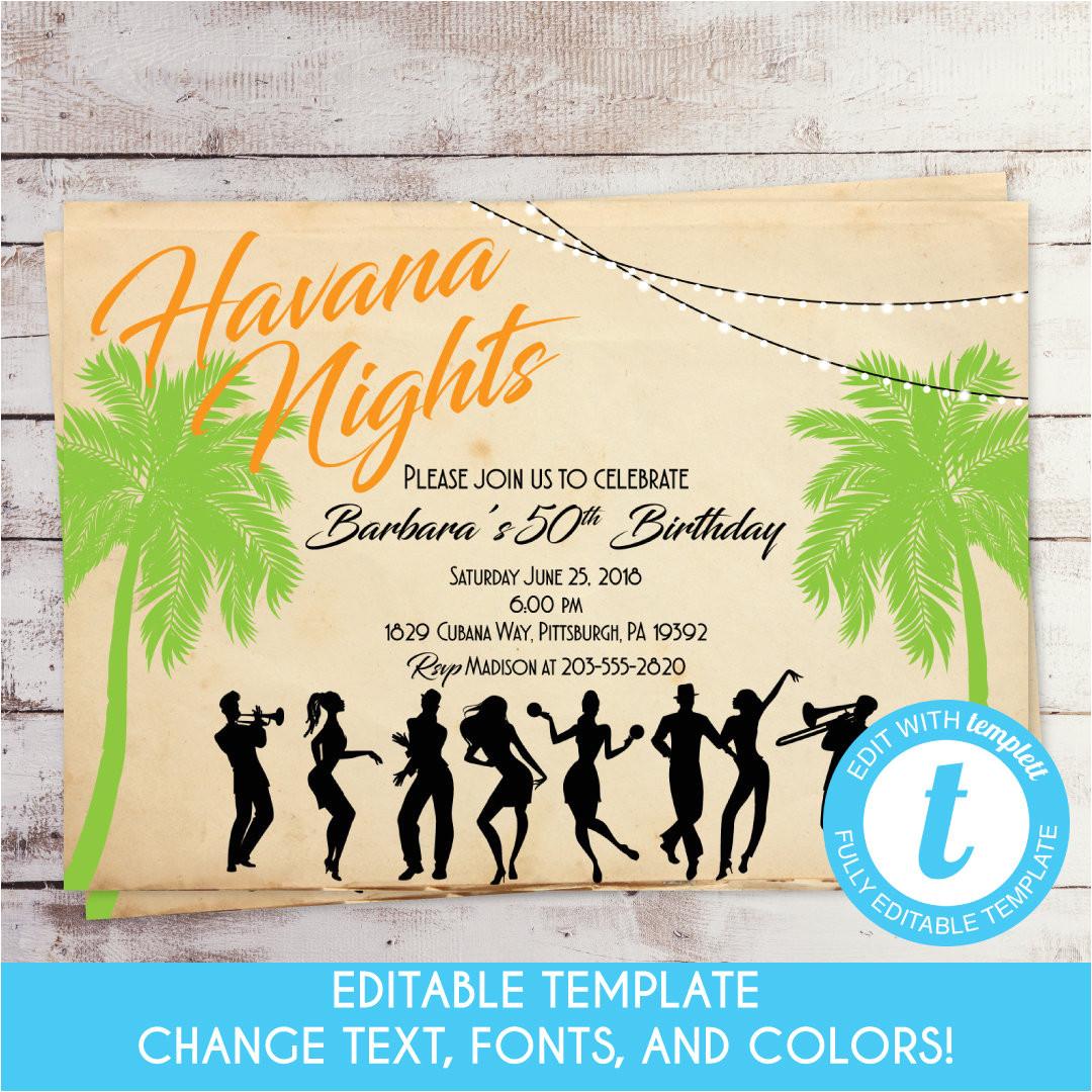 vintage havana nights birthday
