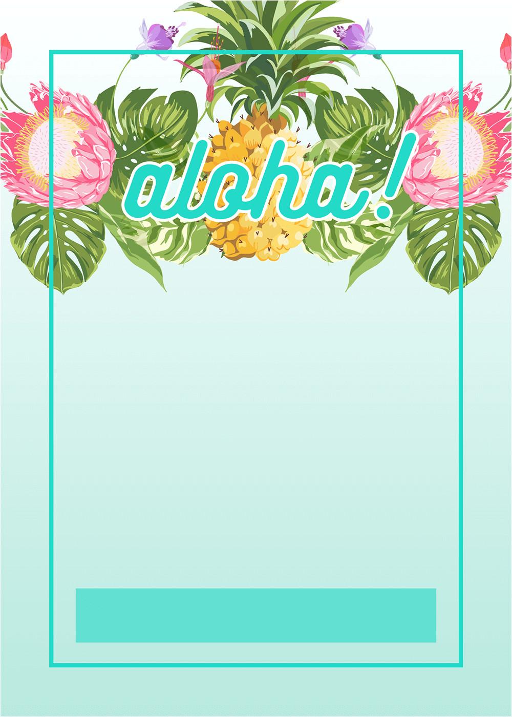 hawaiian party invitations printable