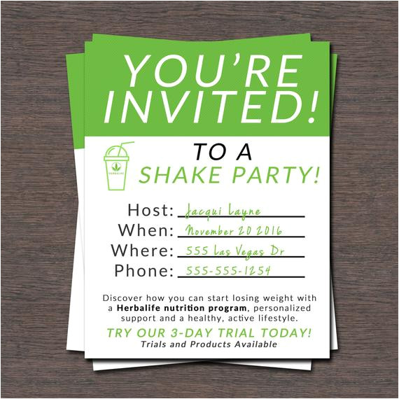shake party invite instant download