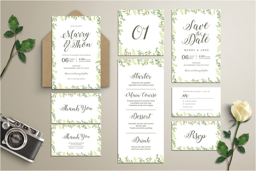 50 stylish wedding invitation templates cms 27909