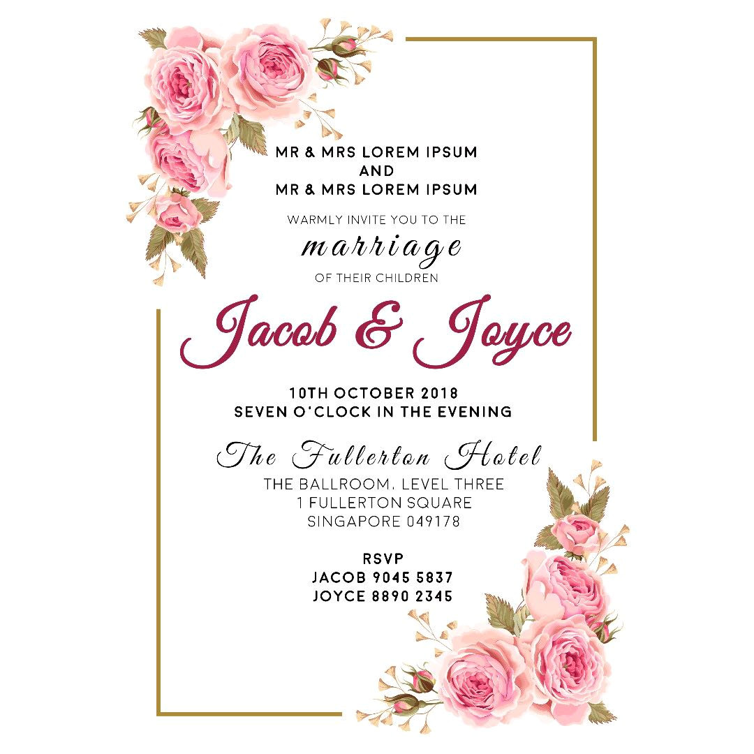 a4 digital wedding invitation matching place card 174010721