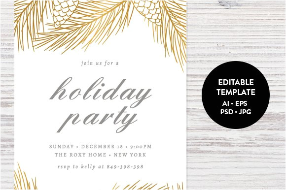 462821 holiday party invitation template