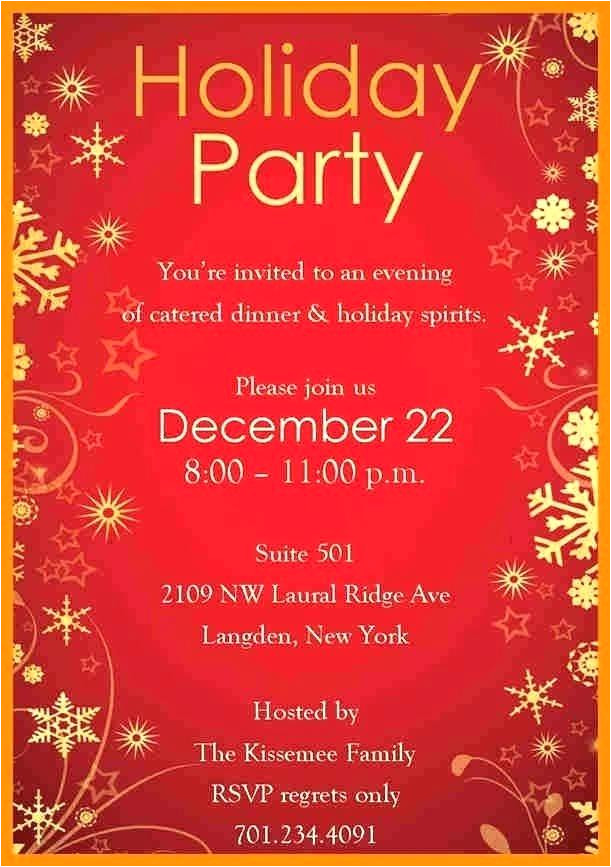 holiday invitation templates free word