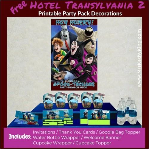 free hotel transylvania 2 printable party decoration pack e2 80 8ehotelt2 e2 80 ac