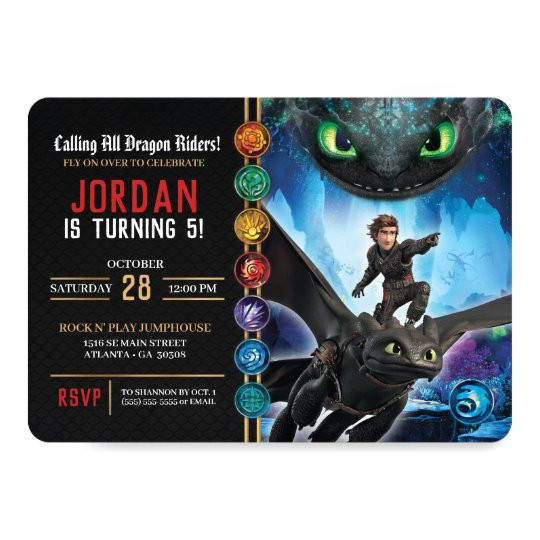 how to train your dragon birthday invitation 256647191758759547