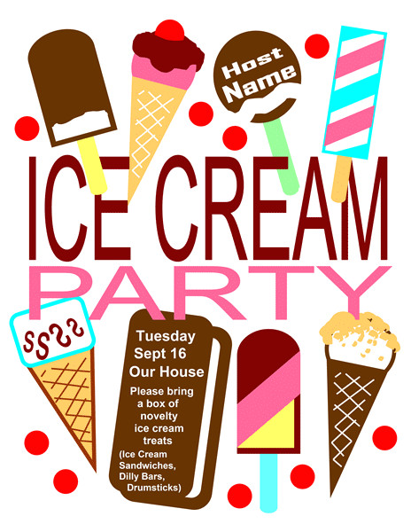 invitation to an ice cream party