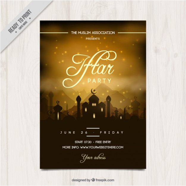 beautiful iftar party invitation 878911