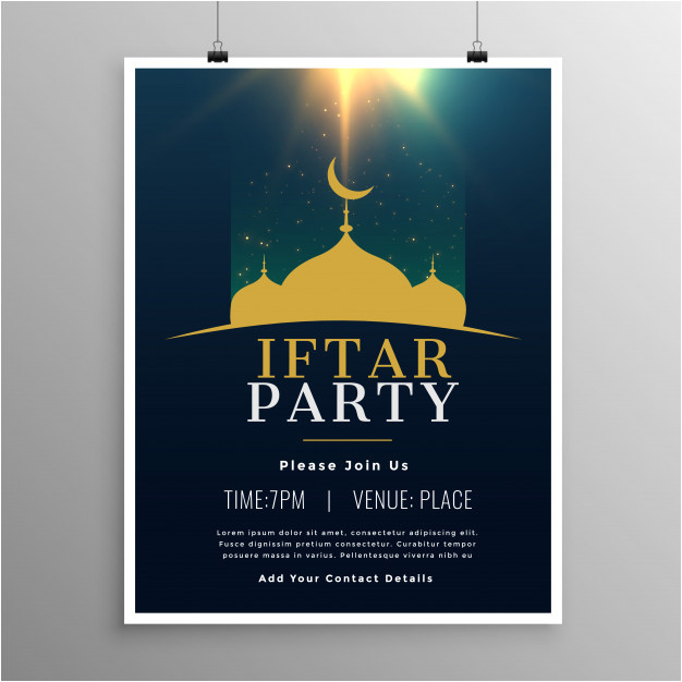 iftar party invitation template design 4144007