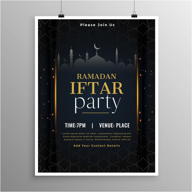 stylish ramadan iftar party invitation template 4191999