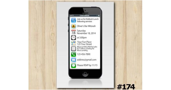 iphone custom invitation 174