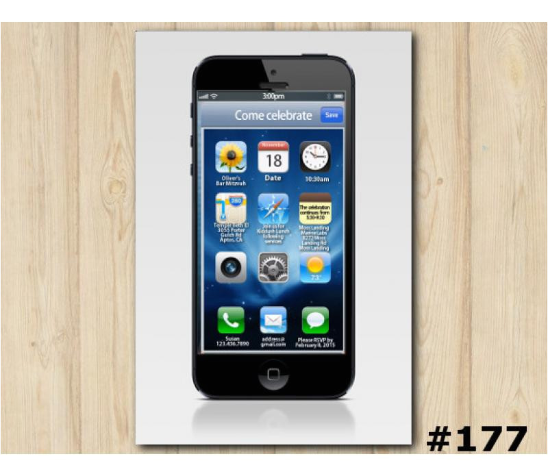 iphone custom invitation 177