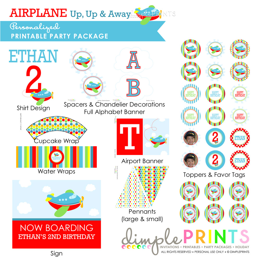 airplanestandard printable personalized party package copy