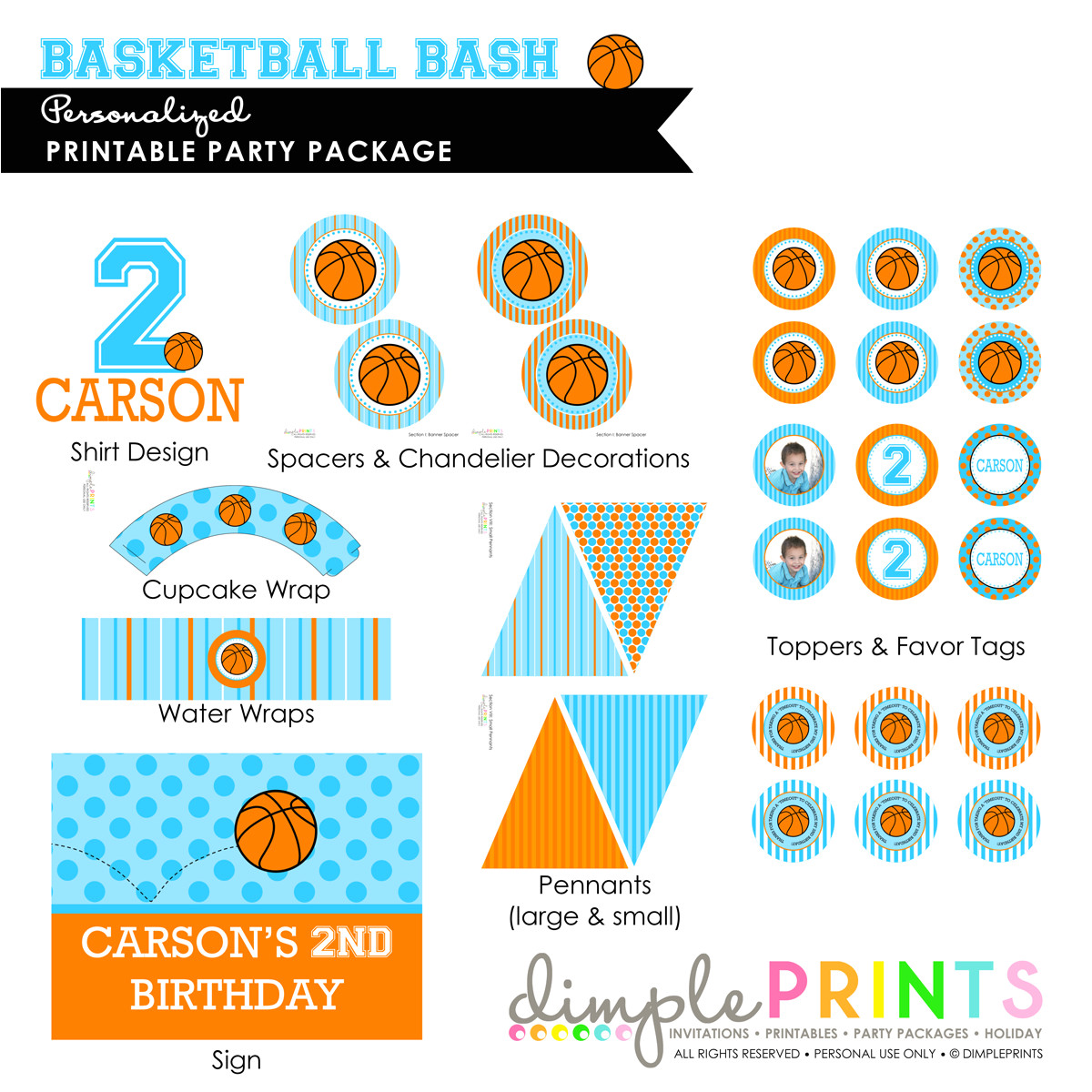basketball deluxe printable party package copy