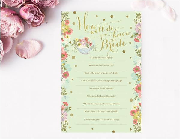 copy of bridal shower games printable templates navy blue and gold floral