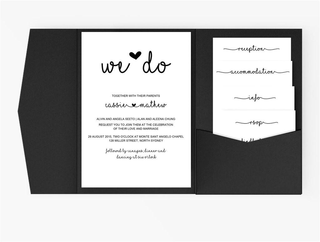 copy of wedding invitation stationary set diy editable word template black