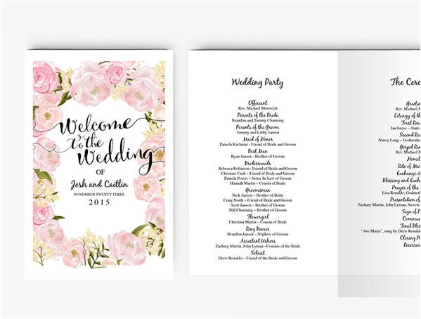 copy of wedding invitation stationary set diy editable ms word template peony floral blush pink 7