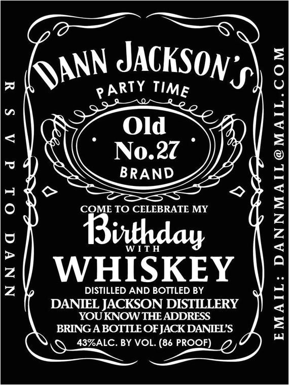 dys party invitation jack daniels