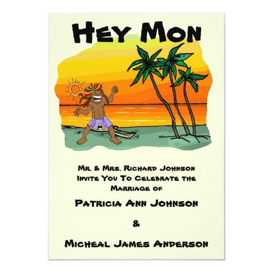 hey mon jamaica wedding invitation 161449411910230245