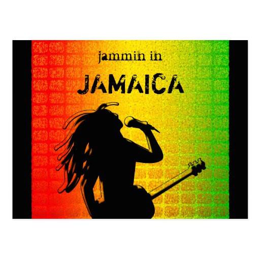 jammin in jamaica reggae rasta postcard 239187678743565674