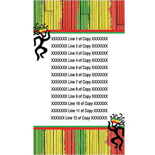 reggae themed party invitations