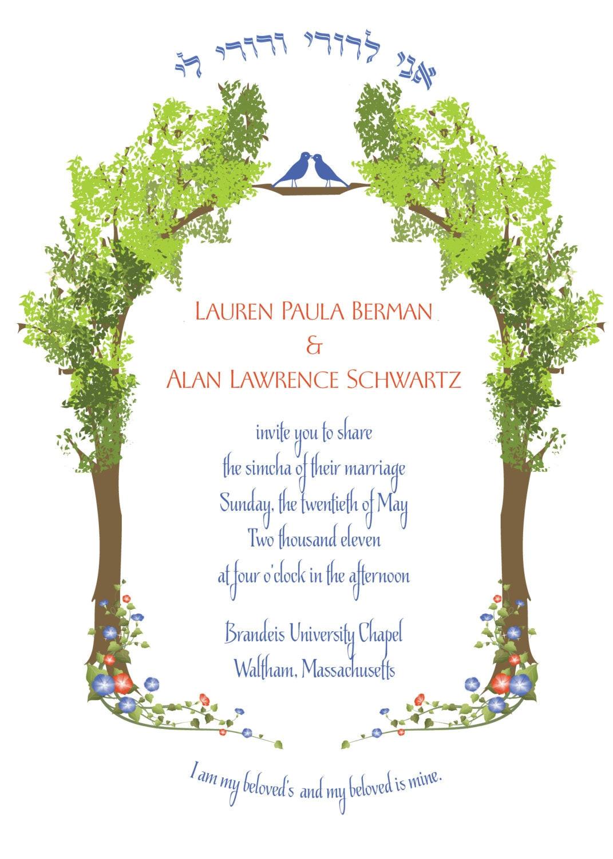 jewish wedding invitation templates